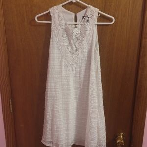 White front lace dress